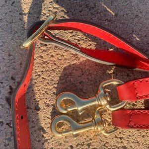 Gucci red purse strap